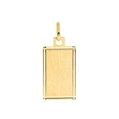 Złota zawieszka matowy prostokąt blaszka do grawerowania