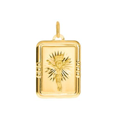 Złota zawieszka medalik z Jezusem