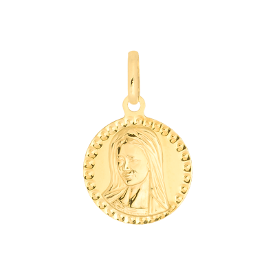 Złota zawieszka medalik z Matką Boską