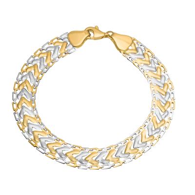 Złota bransoletka z białym złotem Grawer GRATIS