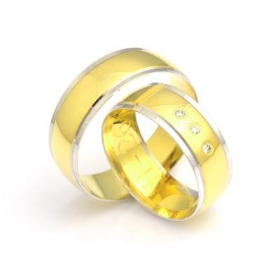 Gustowne obrączki ślubne dwukolorowe