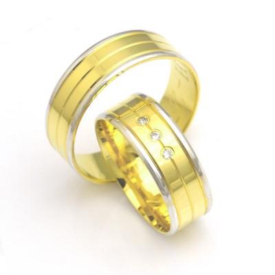 Wytworne szeroki płaskie obrączki ślubne