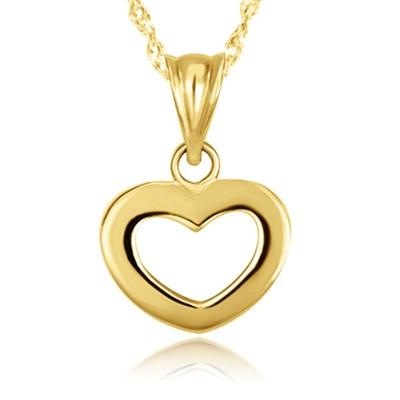 Piękny złoty komplet serduszko z łańcuszkiem 585
