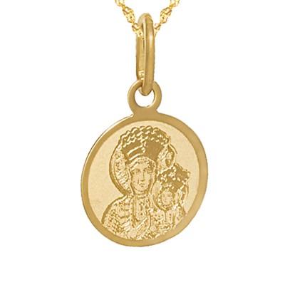 Złoty komplet medalik łańcuszek Prezent Grawer GRATIS