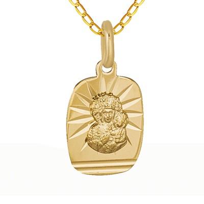 Niesamowity złoty komplet medalik łańcuszek Prezent Grawer GRATIS