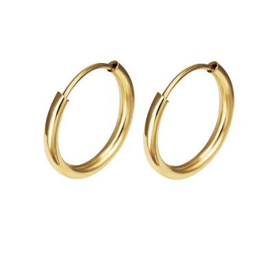 Złote kolczyki klasyczne kółeczka