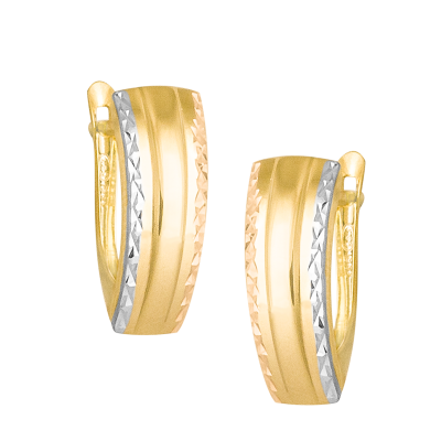 Złote kolczyki z białym i różowym złotem