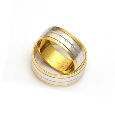 Obrączki ślubne biało- żółte z cyrkoniami