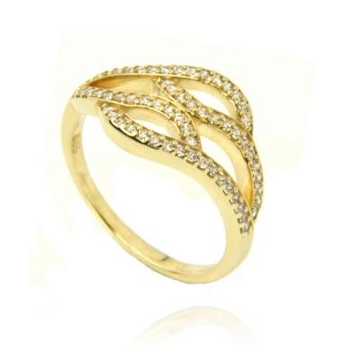 Złoty elegancki pierścionek