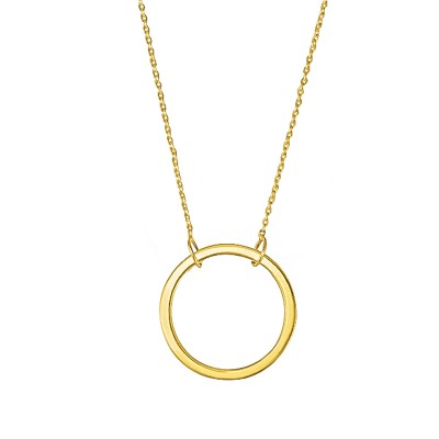Minimalistyczny złoty naszyjnik z ozdobnym kółeczkiem