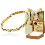 Biało-żółta złota bransoletka