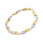 Dwubarwna złota bransoletka