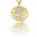 Zawieszka z żółtego i białego złota