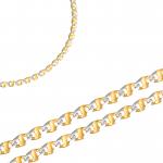 Ciekawy złoty łańcuszek ozdobiony białym diamentowanym złotem Prezent Grawer GRATIS