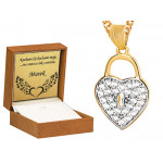 Czarujące złote serce kluczyk 585 z łańcuszkiem grawer gratis