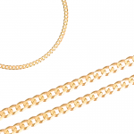Złoty łańcuszek typu pancerka o subtelnie połyskującym wykończeniu Prezent Grawer GRATIS