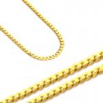 Złoty łańcuszek rodzaj splotu Pancerka