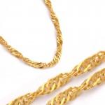 Kręcony złoty łańcuszek