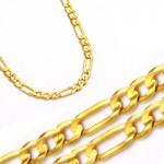 Złoty łańcuszek rodzaj splotu Figaro