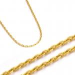 Złoty łańcuszek o splocie typu ankier