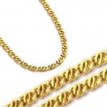 Błyszczący złoty łańcuszek