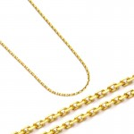 Gustowny złoty łańcuszek