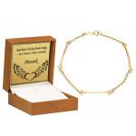 Złota bransoletka z szykownymi blaszkami Grawer GRATIS