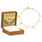 Niezwykła złota bransoletka z oryginalnymi zawieszkami Grawer GRATIS