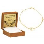 Złota bransoletka z Koniczyną