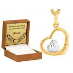 Urocze złote serduszko z łańcuszkiem 585