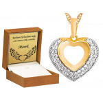 Złoty łańcuszek 585 z niepowtarzalnym  sercem