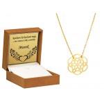 Naszyjnik złoty z ażurowym wzorem