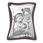 Srebrny obrazek Święta Rodzina pamiątka na ślub chrzest