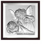 Obrazek srebrny Anioł Stróż Pamiątka Chrztu GRAWER GRATIS
