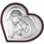 Obrazek srebrny Święta Rodzina Pamiątka Ślubu Chrztu