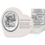 Niepowtarzalny srebrny obrazek z wierszykiem Pamiątka Chrzest Święty Grawer GRATIS