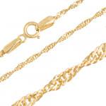 Piękny złoty komplet łańcuszek z bogatym sercem 585
