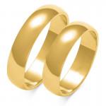 Obraczki ślubne złote, pólokrągłe, 5 mm