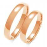 Obraczki ślubne złote, pólokrągłe, 3,50 mm