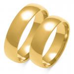 Obraczki ślubne złote, pólokrągłe, 5,50 mm