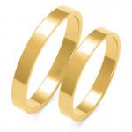 Obraczki ślubne złote, płaskie, 3,00 mm