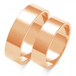 Obraczki ślubne złote, płaskie, 6,00 mm