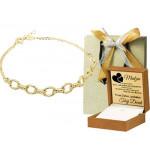 Złota bransoletka z łańcuszkiem