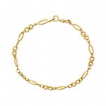 Złota bransoletka ze znakiem nieskończoności