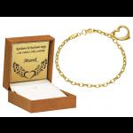 Złota bransoletka z serduszkiem