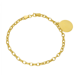 Złota bransoletka z blaszką do grawerowania