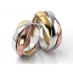 Ekstrawaganckie kolorowe obrączki ślubne