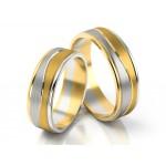 Dwubarwne asymetryczne obrączki ślubne