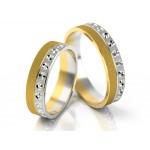 Dwukolorowe obrączki ślubne o stylowym wykończeniem