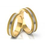 Eleganckie dwukolorowe obrączki ślubne